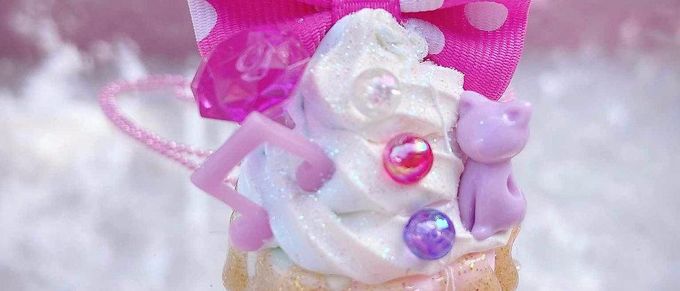 Dreamy Cupcake Cat Necklace