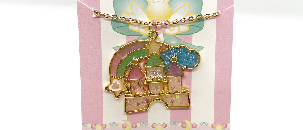 Kawaii Castle Bezel Necklace
