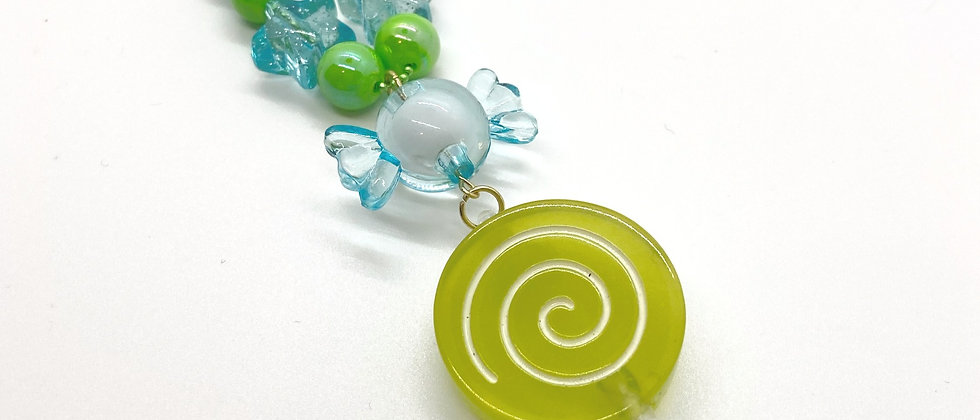 Sweet Lime Lollipop Necklace