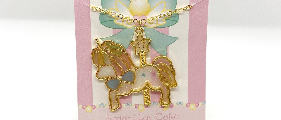Unicorn Bezel Necklace