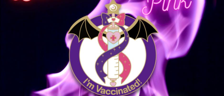 Dark Moon Pink Vax Pin