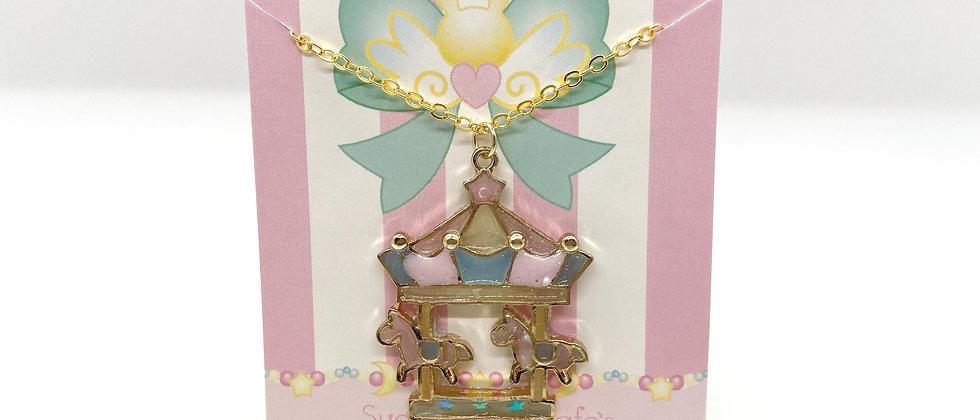 Carousel Bezel Necklace
