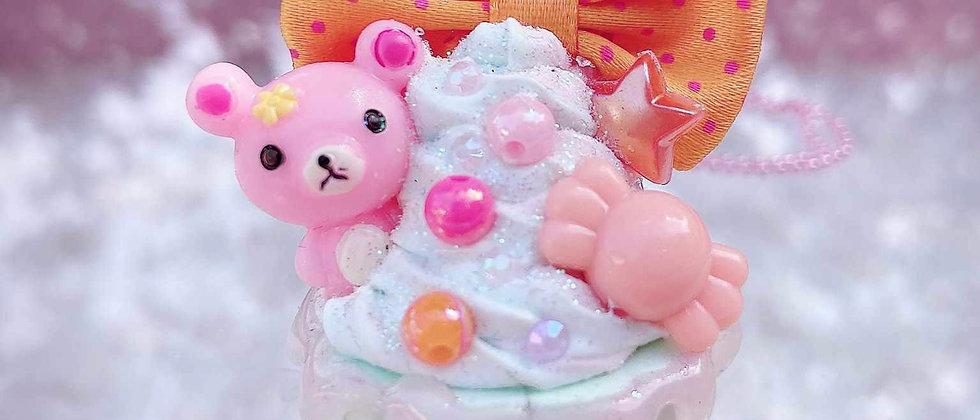 Dreamy Cupcake Bear Necklace