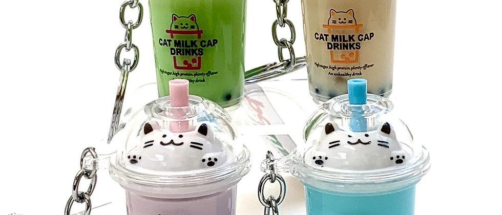 Kitty Boba Key Chain