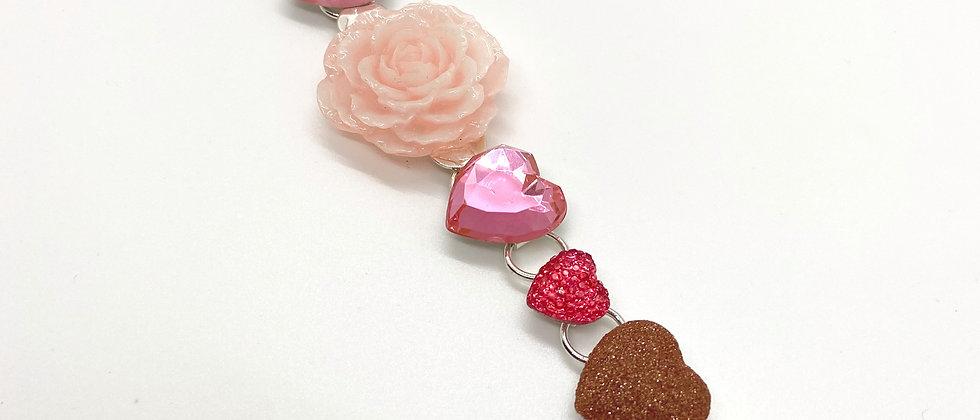 Pale Pink Rose Bracelet
