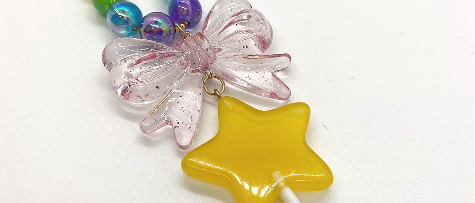 Star Bow Lollipop Necklace