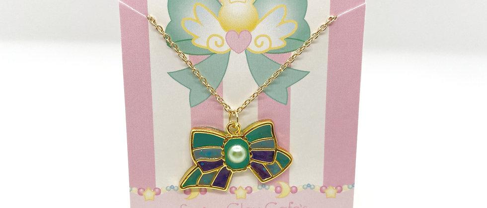 Mermaid Bow Bezel Necklace