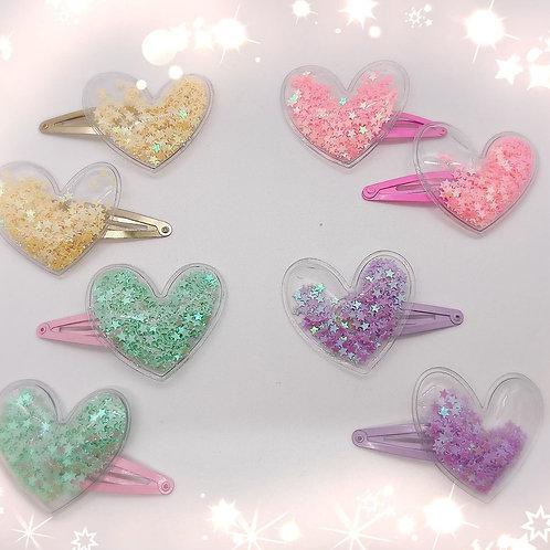 Heart Shaker Barrettes