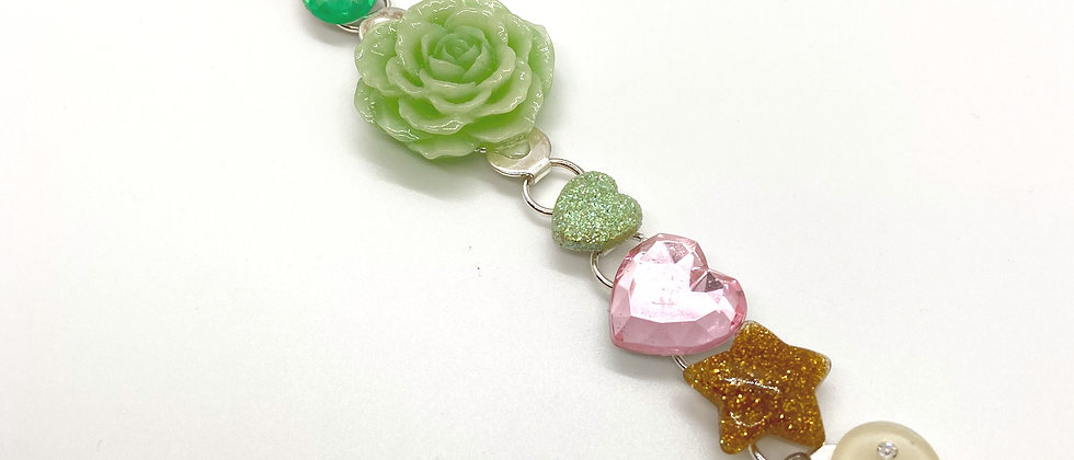 Mint Gold Rose Bracelet