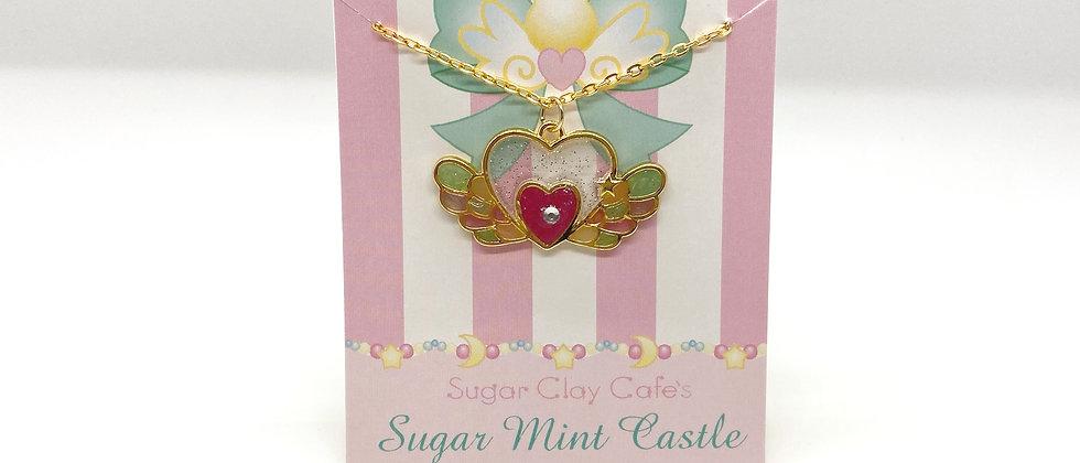 Heart Wings Bezel Necklace