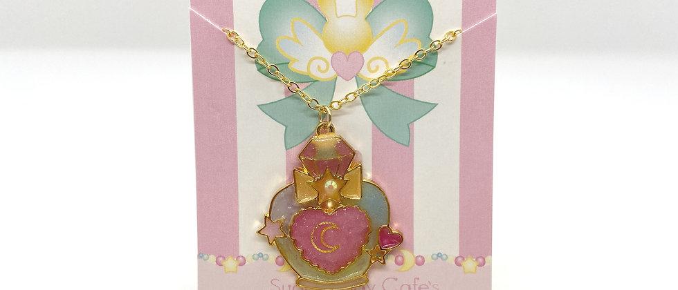 Moon Perfume Bezel Necklace