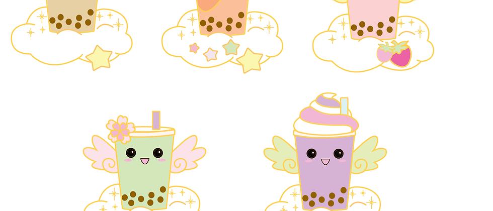 Bubble Tea Angel Sticker Collection