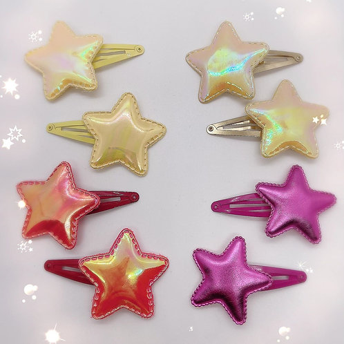 Solid Star Barrettes