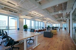Interior of modern empty office building