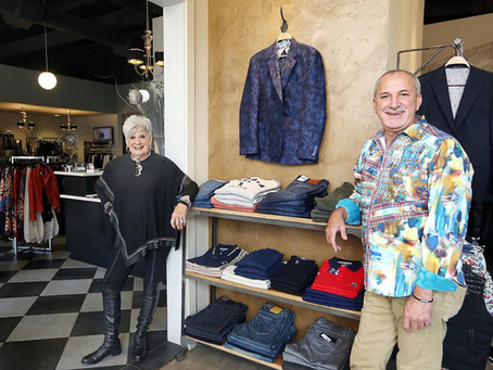 Mother and Son Work to Deliver High-End Fashion in Downtown Napa