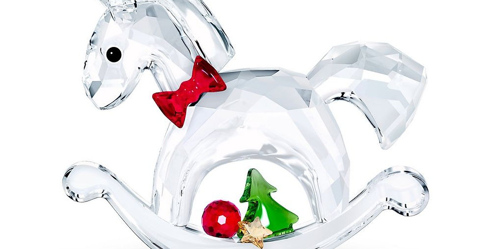 Swarovski figurer Rocking Horse - Happy Holidays