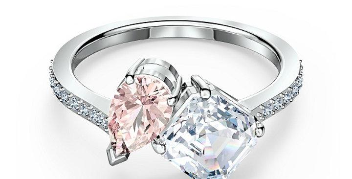 Swarovski ring  Attract Soul, rosa