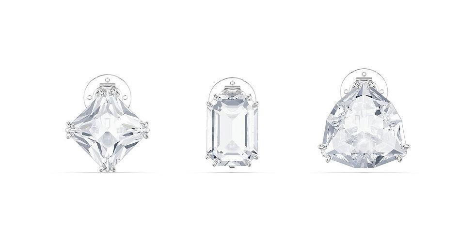Swarovski øredobber Millenia clip earring Single, Set (3), White, Rhodium plated