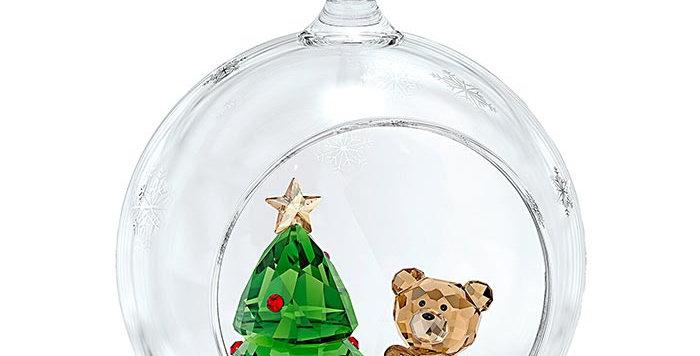 Swarovski figurer Ball Ornament, Christmas Scene
