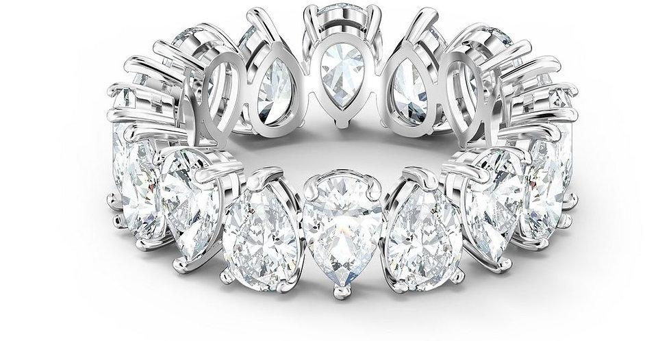 Swarovski ring Vittore Pear, hvitt