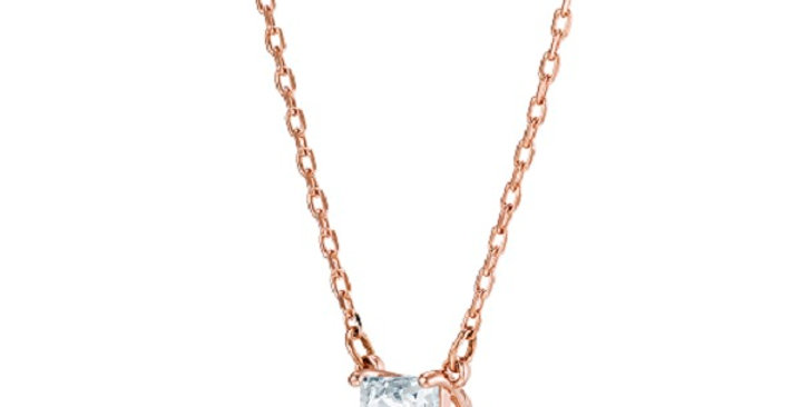 Swarovski smykke Attract necklace Square, White, Rose gold-tone plated