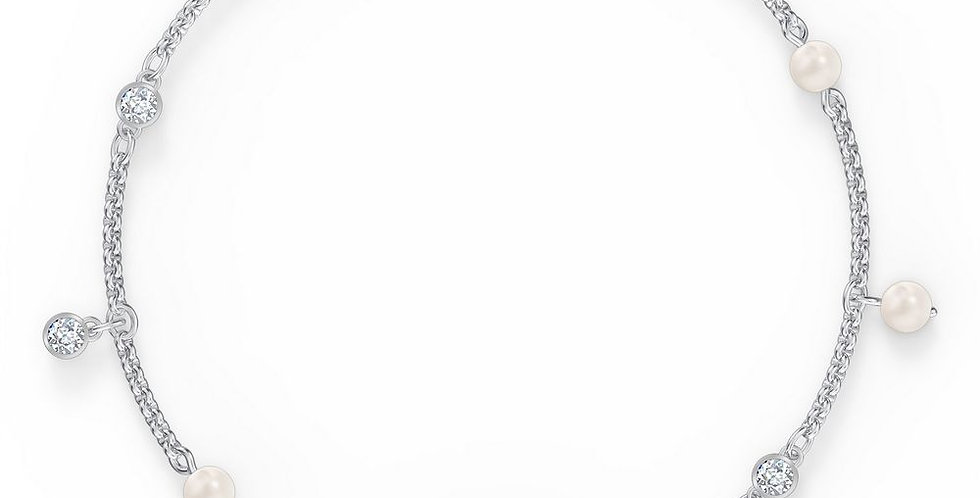Swarovski armbånd Remix Collection Delicate Pearl, hvitt