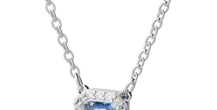 Swarovski smykke Millenia necklace Octagon cut Swarovski zirconia, Blue, Rhodium