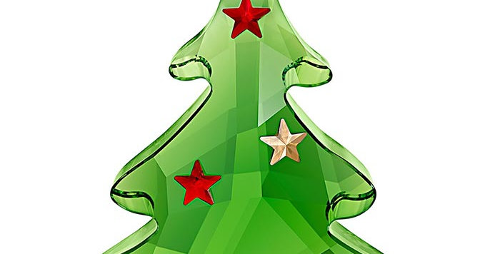 Swarovski figurer Green Christmas Tree Ornament