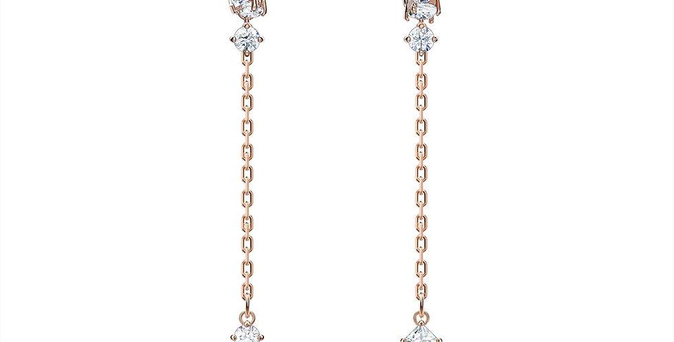 Swarovski øredobber Attract chains