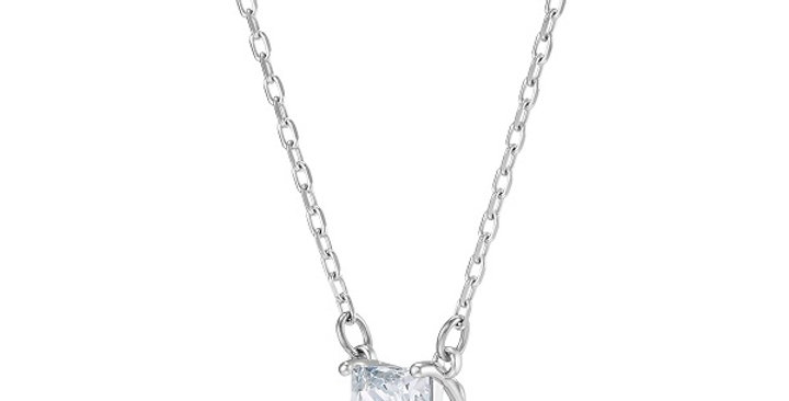 Swarovski smykke Attract necklace Square, White, Rhodium plated