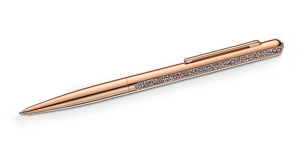 Swarovski Crystal Shimmer ballpoint pen Rose gold tone, Rose gold-tone plated