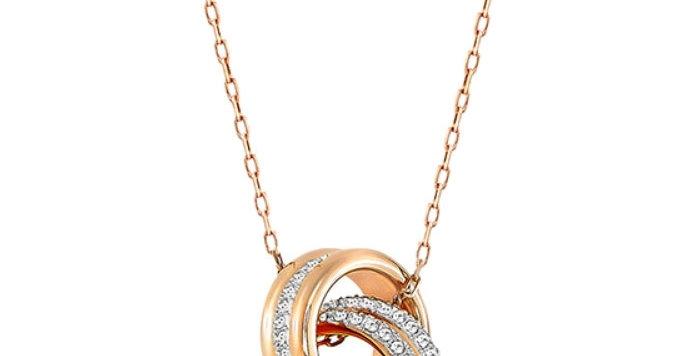 Swarovski smykke Further Pendant, White, Rose-gold tone plated