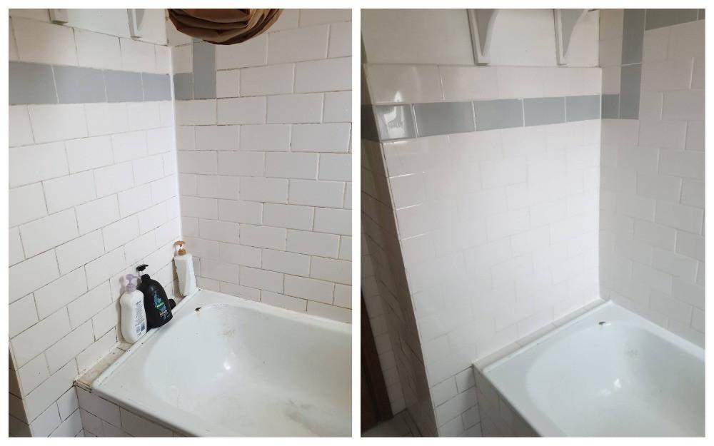 Impermeabilização de banheira com renovação de rejunte sem remover azulejos