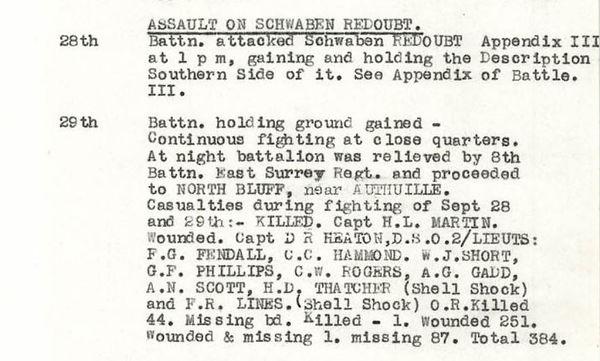 Jennings, Ashwell R (11827) War Diary Ex