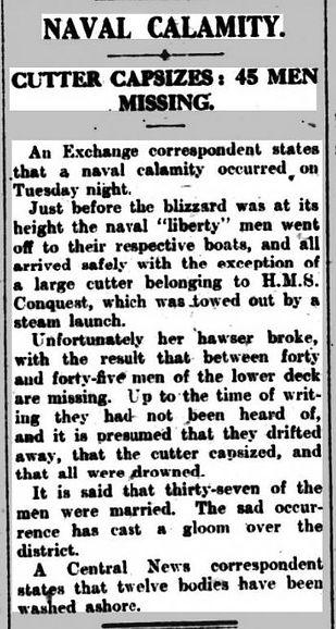 HMS CONQUEST Pall Mall Gazette 31 March