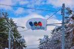 積雪の信号機