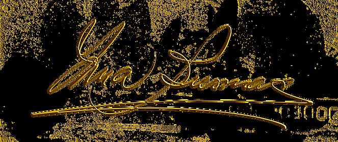 YMA digital signature gold transparent b