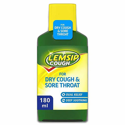 Lemsip Dry Cough & Sore Throat Syrup 180ml