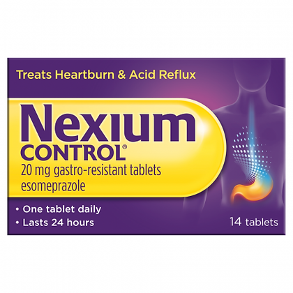 Nexium Control For Heartburn And Acid Reflux 20mg – 14 Tablets