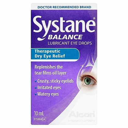 Systane Balance Lubricant Eye Drops For Dry Eyes 10ml