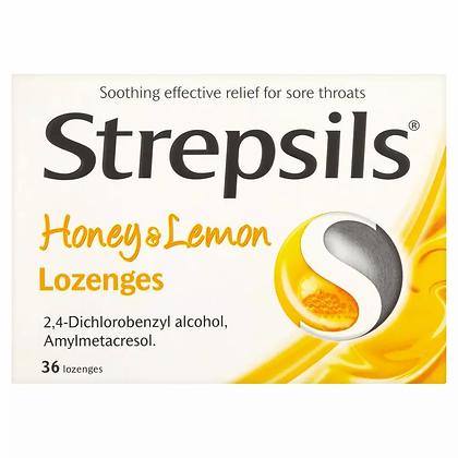 Strepsils Honey & Lemon Sore Throat Relief - 36 Lozenges