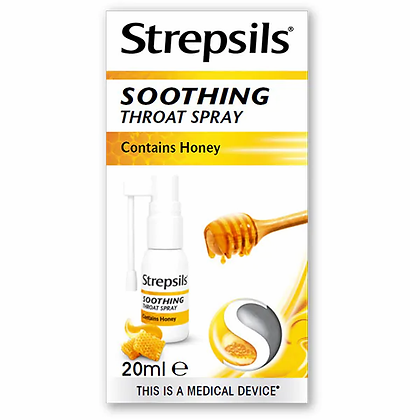 Strepsils Soothing Throat Spray with Natural Honey 20ml