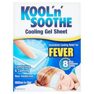 Kool 'n' Soothe Soft Gel Sheets - 4 pack