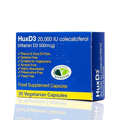 HuxD3 Vitamin D3, 20000iu x30 capsule