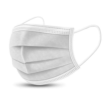 3-Ply Type IIR White Disposable Face Masks