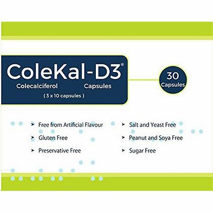 ColeKal Vitamin D3, 1000iu, x 30 capsules