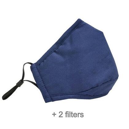 Reusable Cotton Face Mask (Blue) + Filters