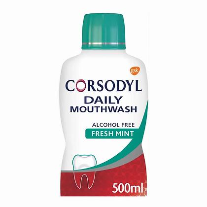 Corsodyl Gum Care Mouthwash Alcohol Free Daily Fresh Mint 500ml