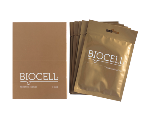 BIOCELL REGENERATING FACE SHEET MASK BOX OF 10