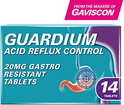 Guardium Acid Reflux Control 20mg Gastro-Resistant Tablets X14